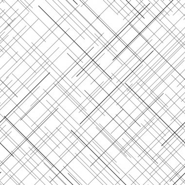 Black and white abstract backdrop. Plaid Fabric texture. Random lines. Seamless pattern. Abstract texture. Monochrome. Plain texture for wallpaper or printing on fabric. For decoration or backdrop. stock vector
