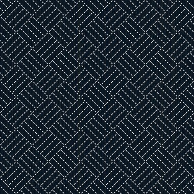 Antique japanese fancywork. Sashiko. Seamless pattern.
