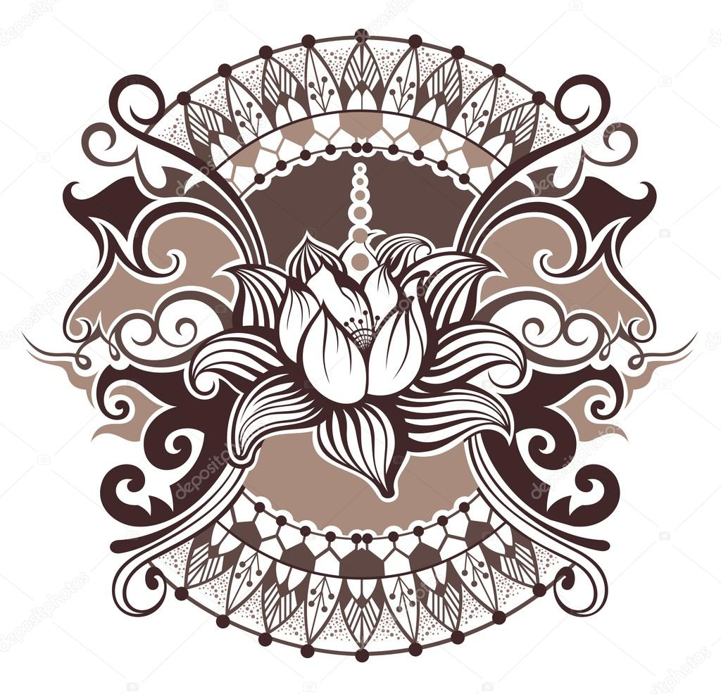 Lotus Flower Stock Vector Ksyshakiss 102244214
