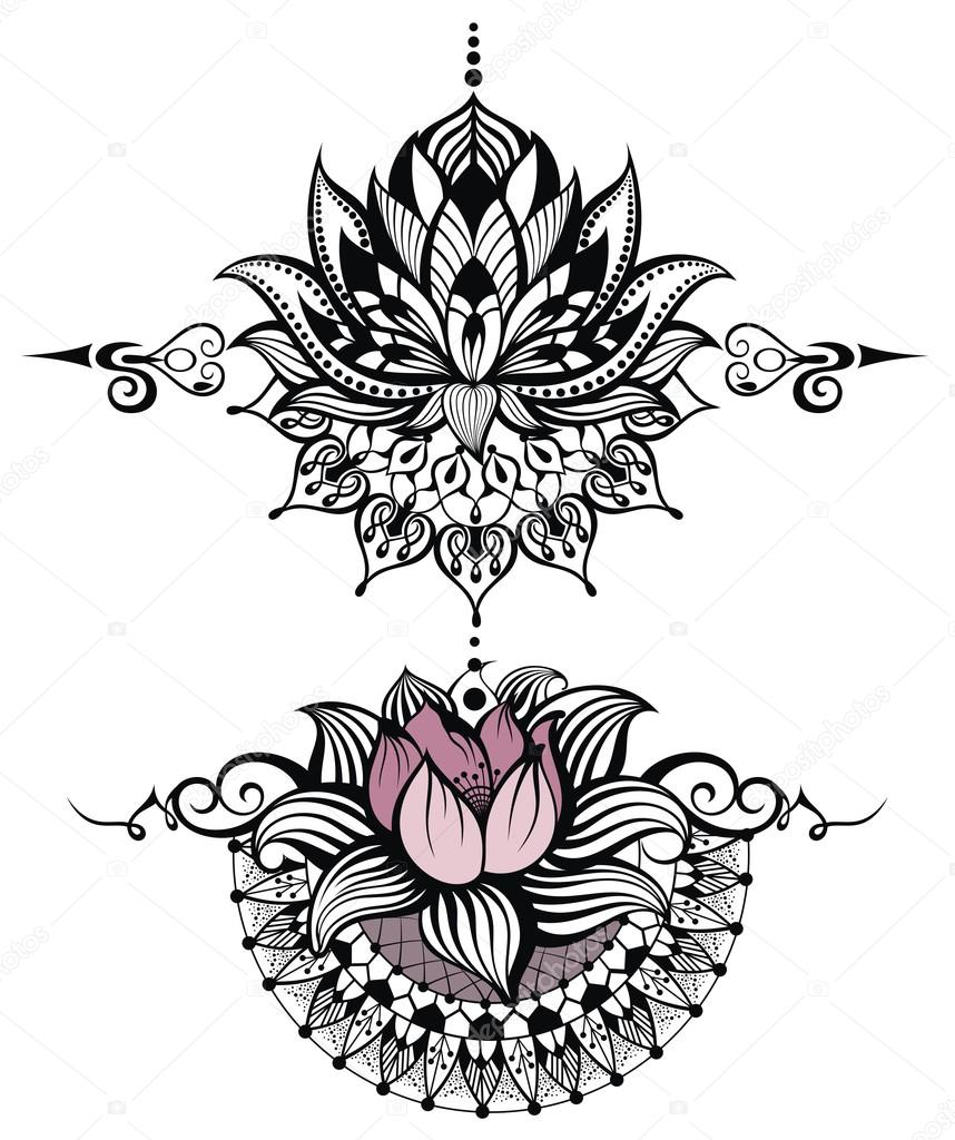 Lotus flower set stock vector ksyshakiss 106985372 lotus flower set stock vector izmirmasajfo