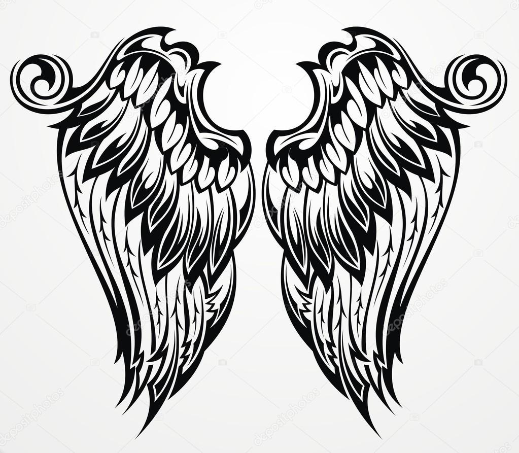 Tattoo Vleugels Stockvector Ksyshakiss 55036785