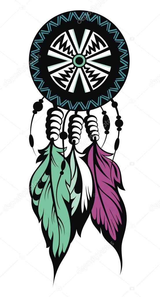 Berühmt Catcher, Protection, symbole des Indiens d'Amérique — Image  PM74