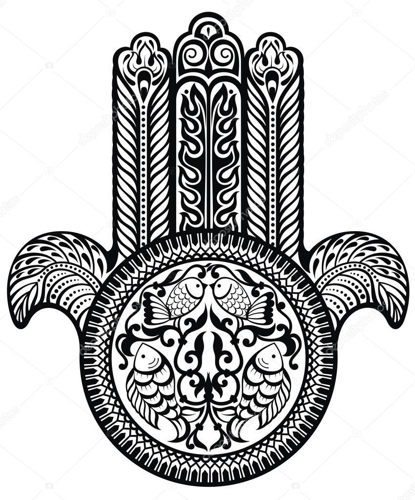 Jewish Sacred Amulet Stock Vector Ksyshakiss 67528587