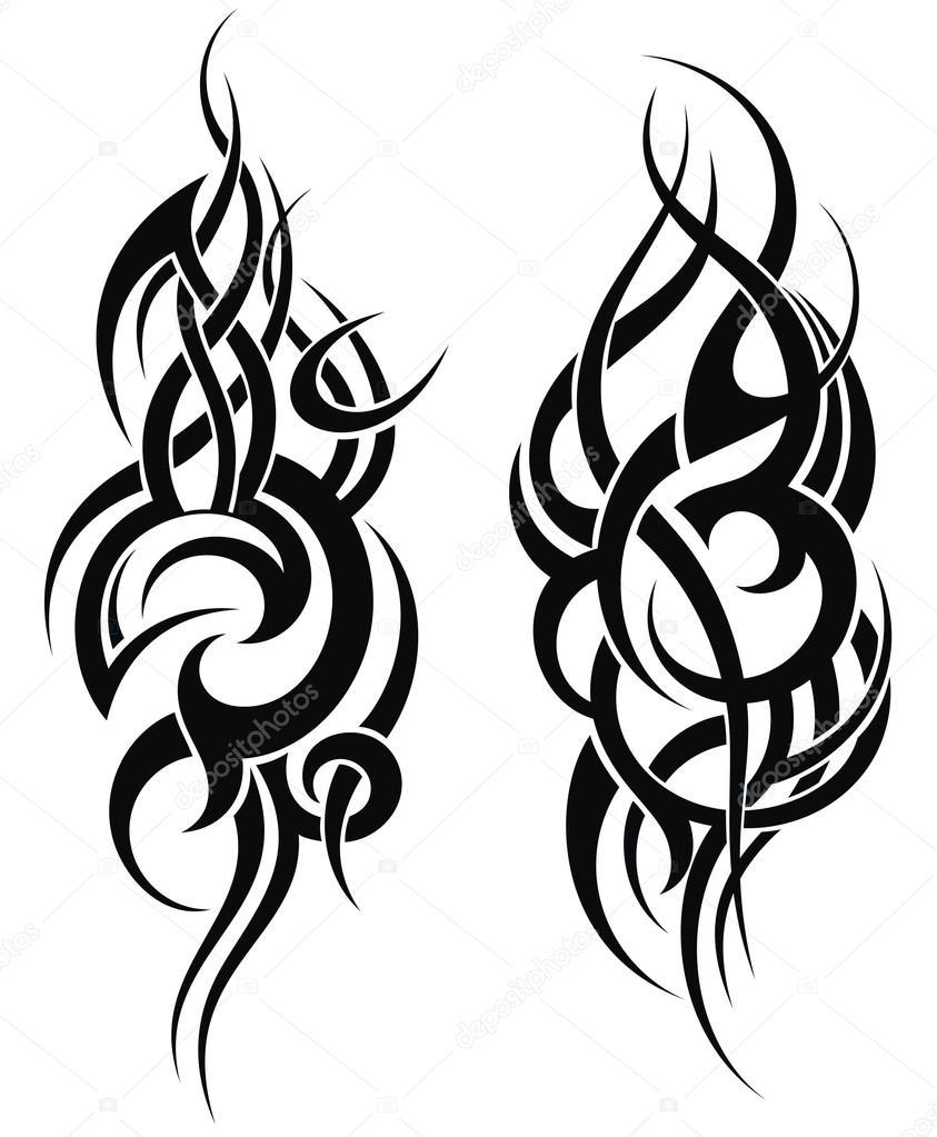 Maori Tattoo Design Stock Photos: Maori Stylem Vzor Tetování Na Rameno