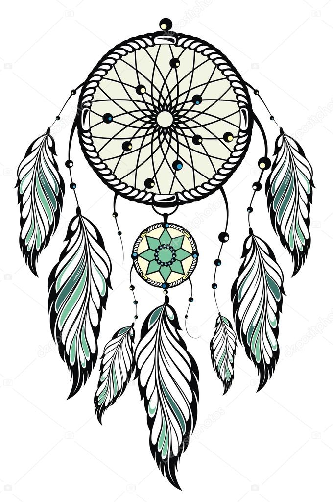 Indian Dream Catcher Stock Vector C Ksyshakiss 71167353