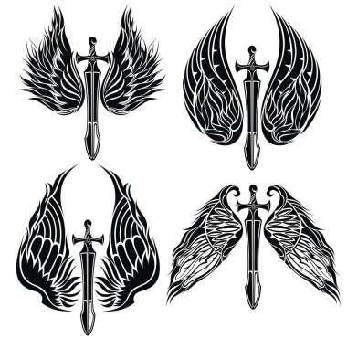 Set of Wings and Swords