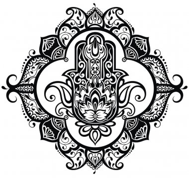 Vector Indian hand drawn hamsa