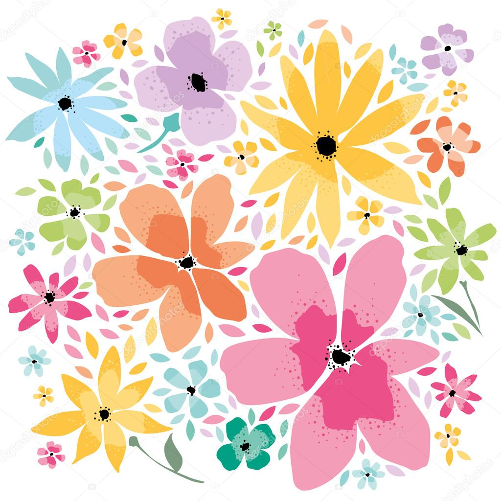 Floral Background In Pastel Colors Stock Vector C Badalov 94496410
