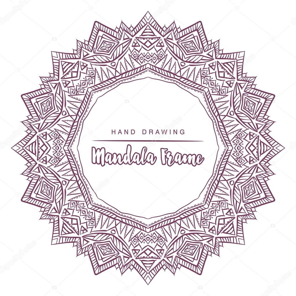 Vektör Mandala Boyama çiçek Dekoratif Elemanları Ile Stok Vektör