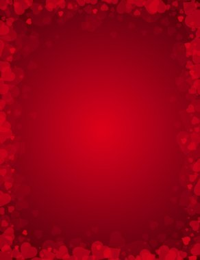 Red background for valentines day, vector illustration