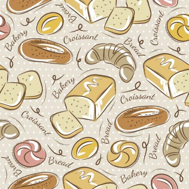 Seamless Patterns with breads