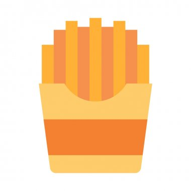 French fries fast food single isolated icon with flat style vector illustration icon