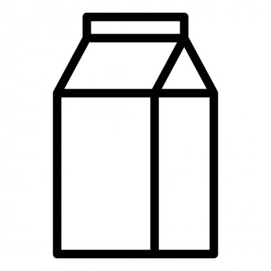 Milk milky health single isolated icon with outline style icon