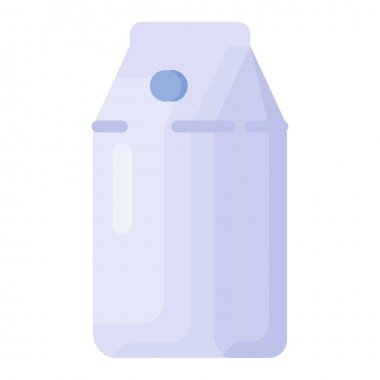 Milk milky health single isolated icon with flat style vector illustration icon