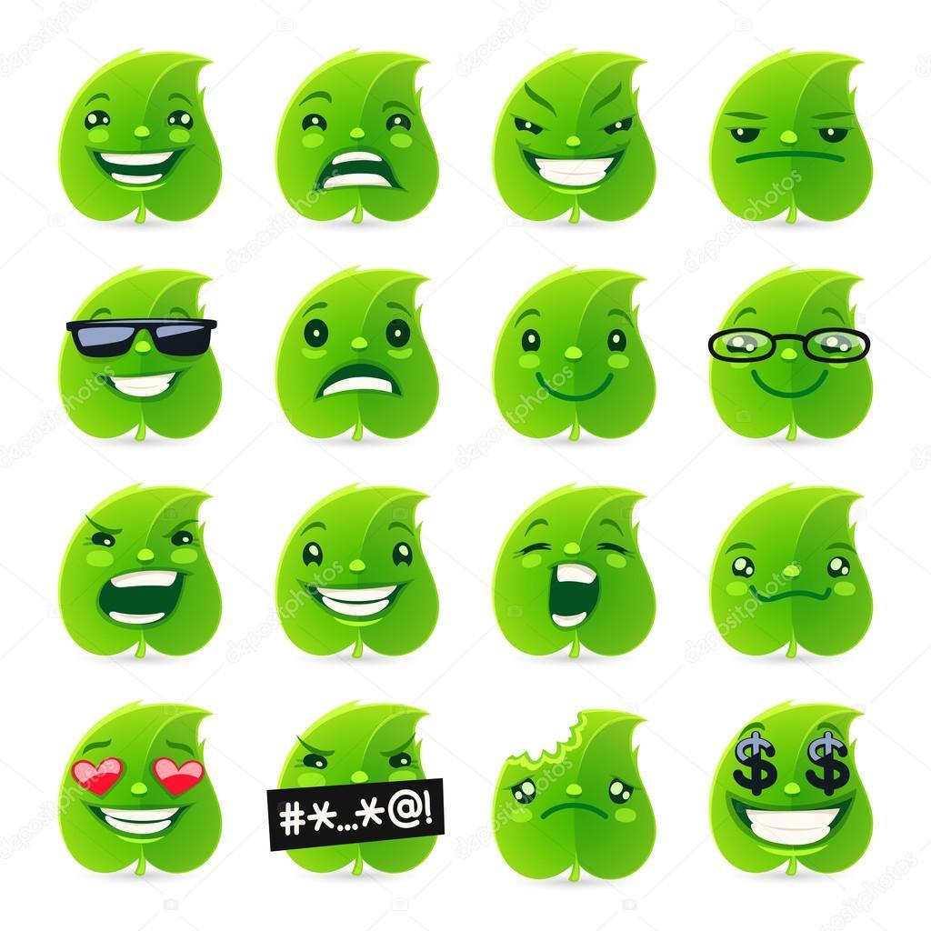Funny Leaf Emojis
