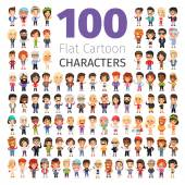 Casually Dressed Flat Characters Big Collection