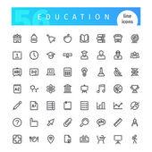 Vzdělávání linie ikony nastavit