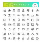 Rekreační linka ikony Set