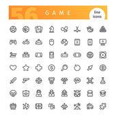 Herní linie ikony Set