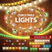 Set di decorazioni di luci di Natale