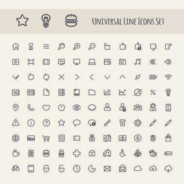 Set of Line Universal Icons