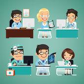 Lékaři u stolu