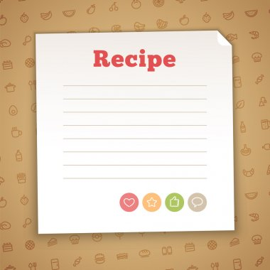 Blank Recipe Card Template