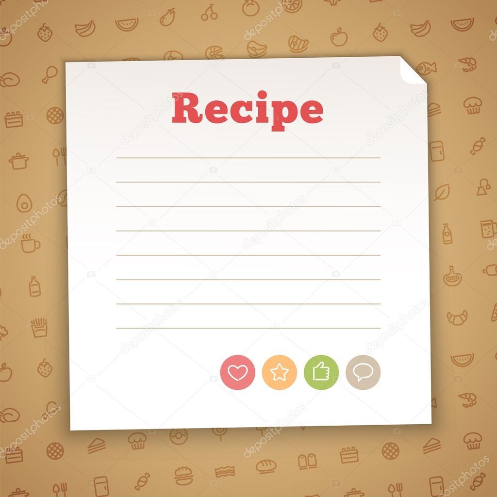 Plantilla de tarjeta de receta en blanco — Vector de stock © Voysla ...