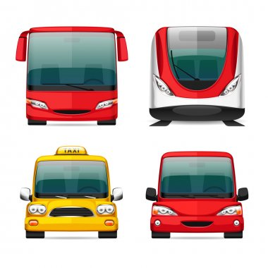 Colorful Transportation Icons