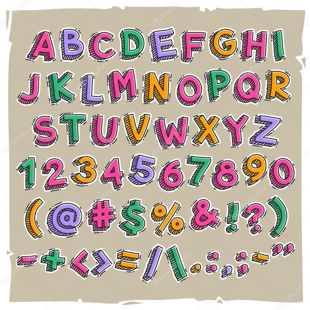 Imágenes Numeros Y Letras Animadas Números Y Letras De Dibujos