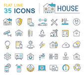 Fotografie Set Vektoricons Isoelektrisches Smart House