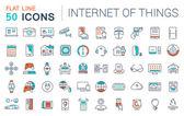 Fotografie Legen Sie Vektor Isoelektrisches Icons Internet der Dinge