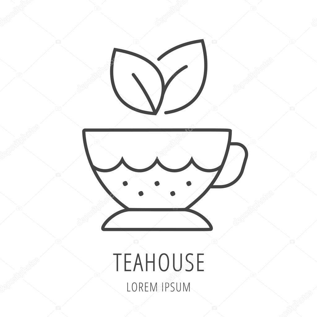 Vector Simple Logo Template Tea cup — Stock Vector © andrei45454 ...