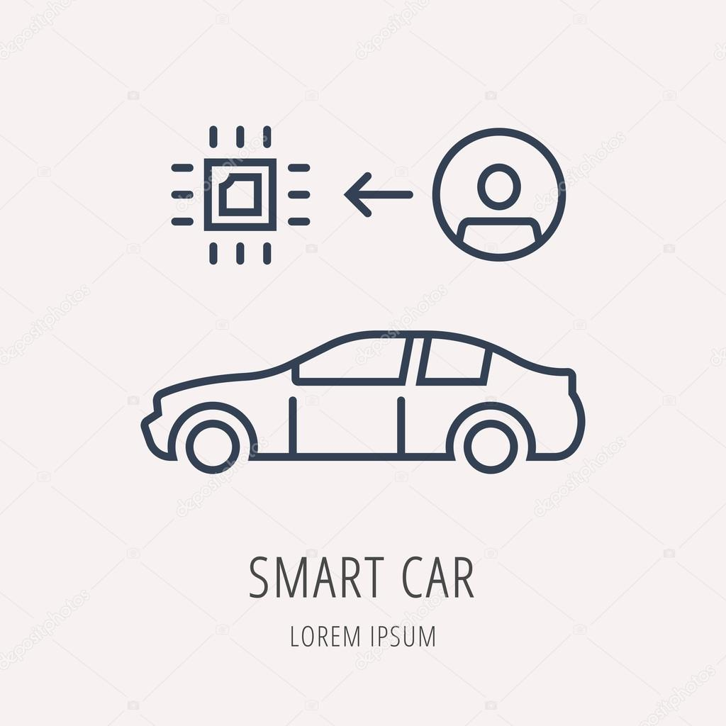Vector Logo Simple plantilla coche Smart — Vector de stock ...