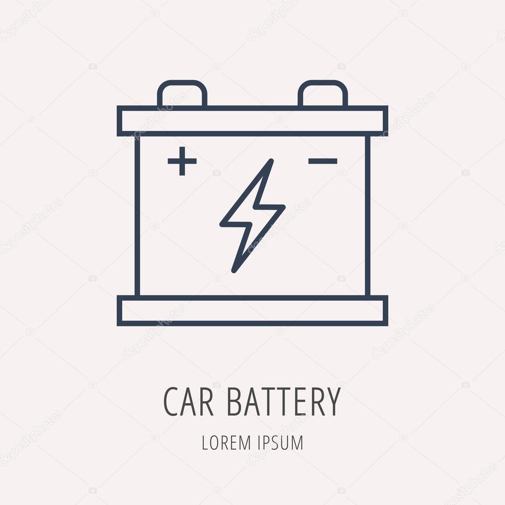 Vector Logo Simple plantilla Eco coche batería — Vector de stock ...