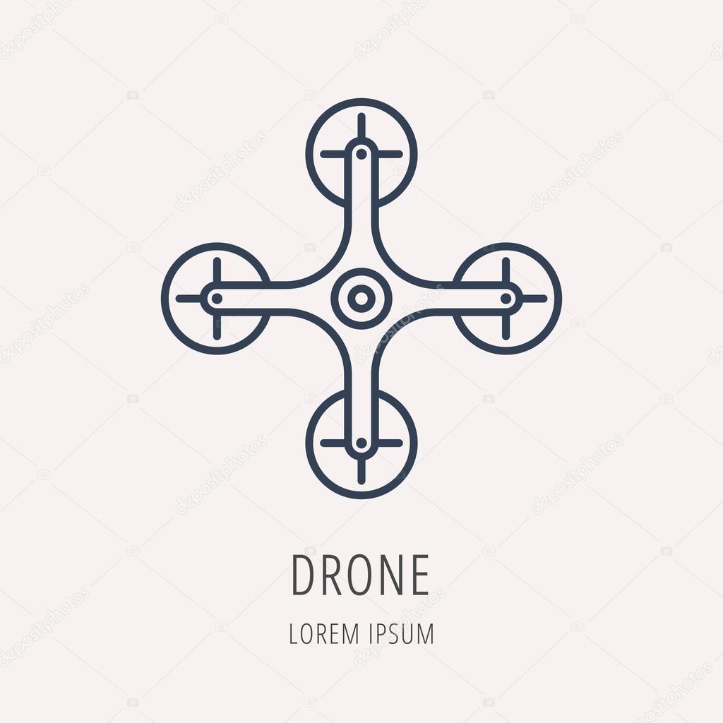 vector simple logo template drone stock vector. Black Bedroom Furniture Sets. Home Design Ideas