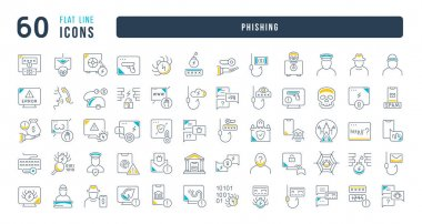 Phishing. Collection of perfectly thin icons for web design, app, and the most modern projects. The kit of signs for category Technology. icon
