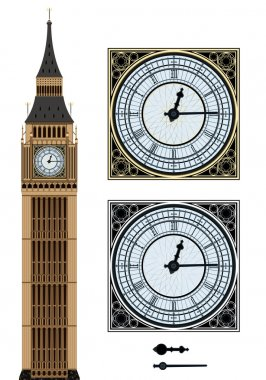 "Картина, постер, плакат, фотообои ""Landmark Big Ben and the clock"", артикул 53593779"