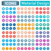Univerzální sada ikon ve stylu materiálu konstrukce