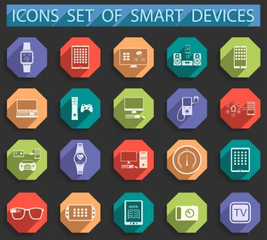 Vector Illustration Smart Devices  in Style Flat.