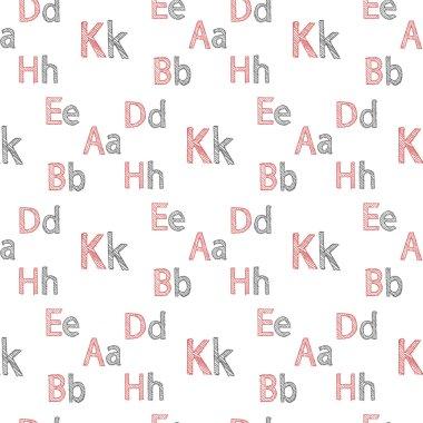 Vector seamless pattern of English alphabet
