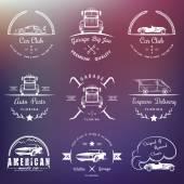Vintage odznaky autoklub a garáže