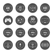 Photo Set Icons and Badges TV and Video