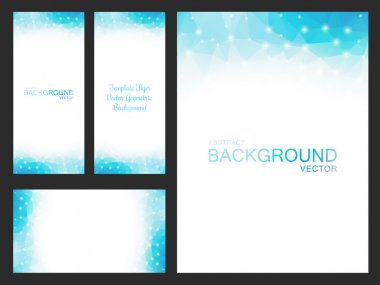 Set of vector artwork for flyers, leaflets, cards, invitations, business cards, labels and covers. Blurred backgrounds for your business projects - Stock Vector clip art vector