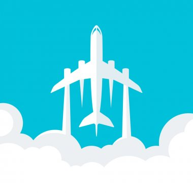 Vector Background with Plane