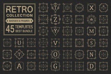 Set Luxury Logos and Monogram Template