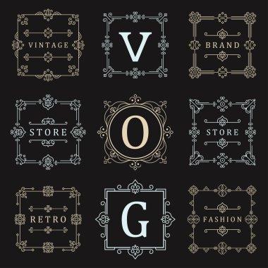 Set Luxury Logos and Badges