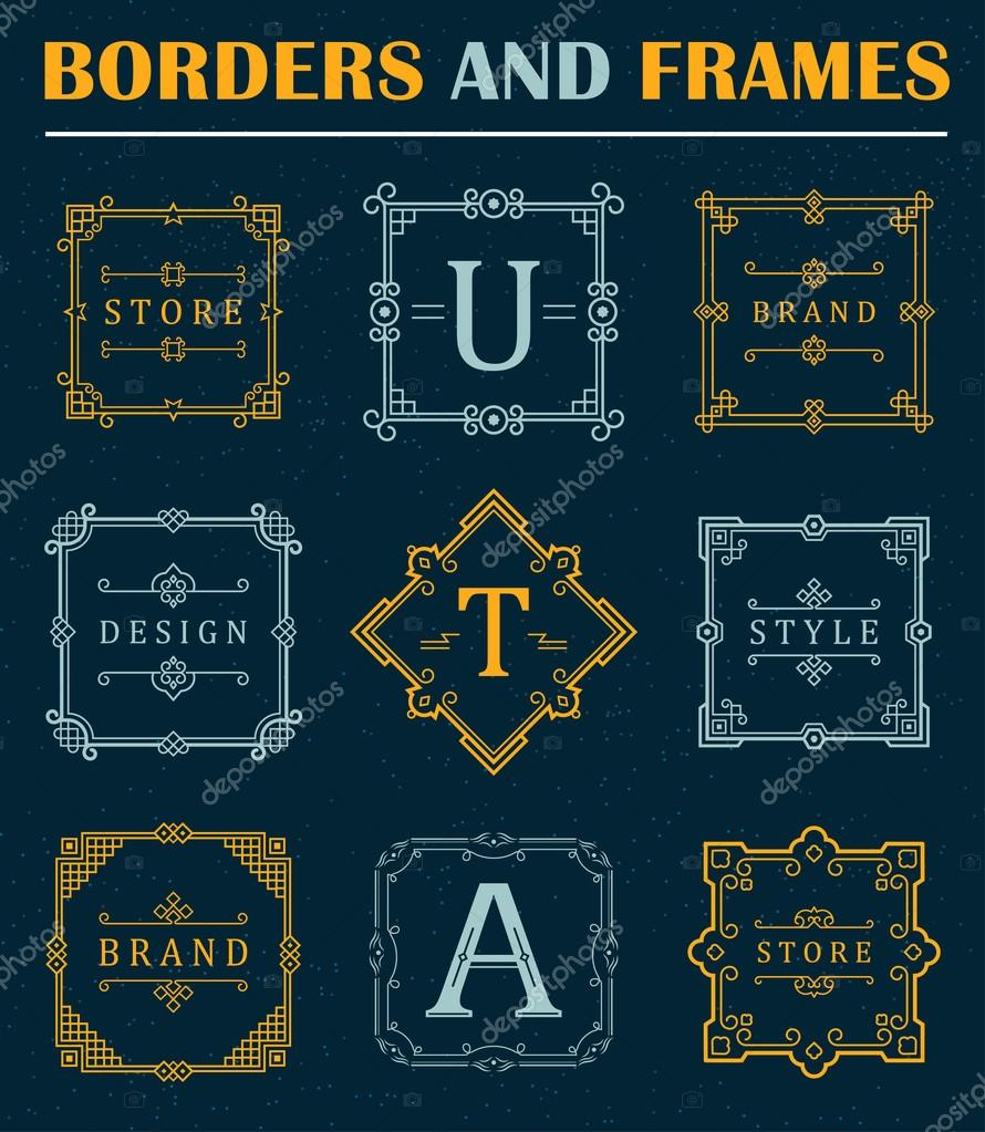 Set of luxury borders and frames stock vector andrei45454 set of luxury borders and frames stock vector buycottarizona