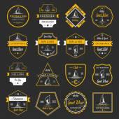 Fotografie Set Catamaran Logos and Badges
