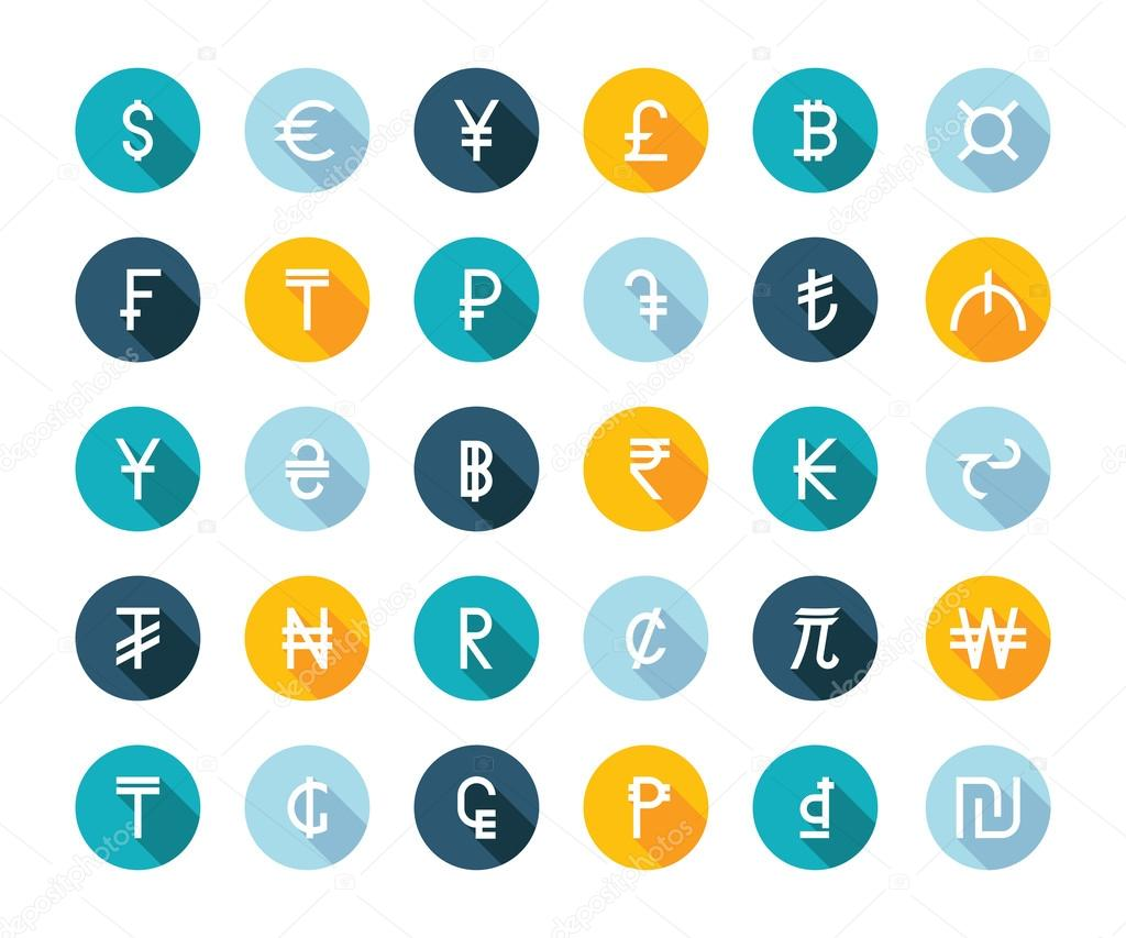 Vector Set Currency Symbols Stock Vector Andrei45454 95329816